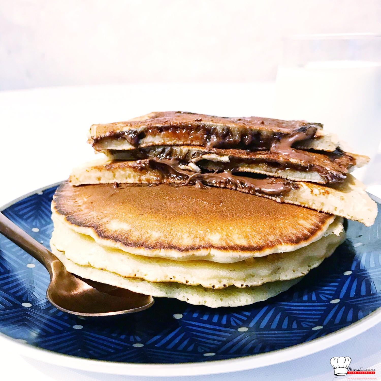 Pancakes Lait D Avoine Fourres Au Nutella Recette Companion Mimi
