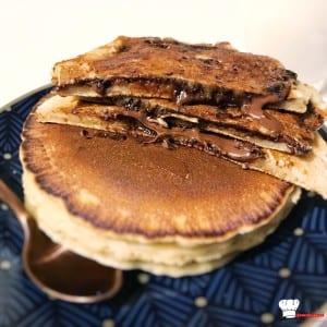 Pancakes lait d'avoine Fourrés au Nutella Recette Companion