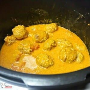 Boulettes de viandes à l'indienne Recette Cookeo