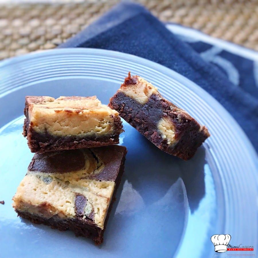 brownie chocolat et beurre de cacahu te recette companion mimi cuisine. Black Bedroom Furniture Sets. Home Design Ideas
