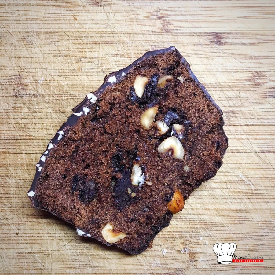 Cake Chocolat et Pépites Noisettes Chocolat Recette Companion