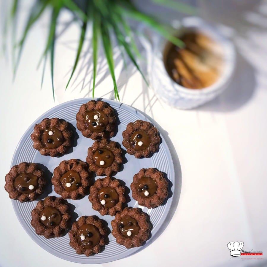 fondants chocolat au lait et caramel recette companion mimi cuisine. Black Bedroom Furniture Sets. Home Design Ideas