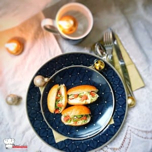 Navettes apéritive Saumon Crème Mascarpone Ciboulette