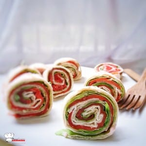 Wrap apéritif Saumon Tarama Salade Verte