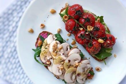 Bruschettas végétariennes aux champignons LOU