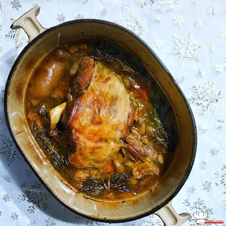 Gigot d 39 agneau de 7 heures cuisson au four mimi cuisine - Cuisson mont d or four ...