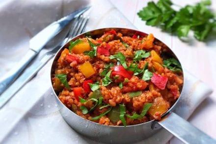 Boulgour à la Turque Poivrons et Tomates Recette Cookeo