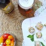 Roulés de Concombre au Saumon et Crème Citron Menthe