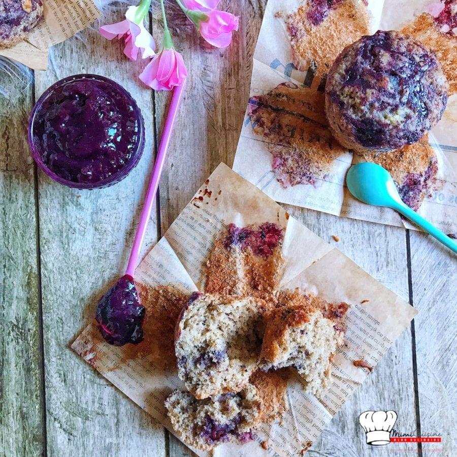 Muffins Vanille et confiture de Myrtilles