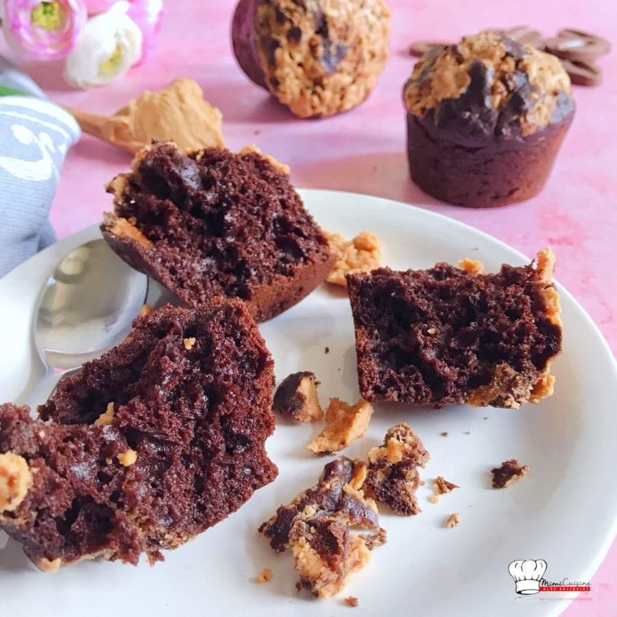 Muffins Chocolat et Beurre de Cacahuète