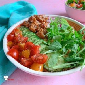 Poke Bowl Tomates Concombre et Saumon frais