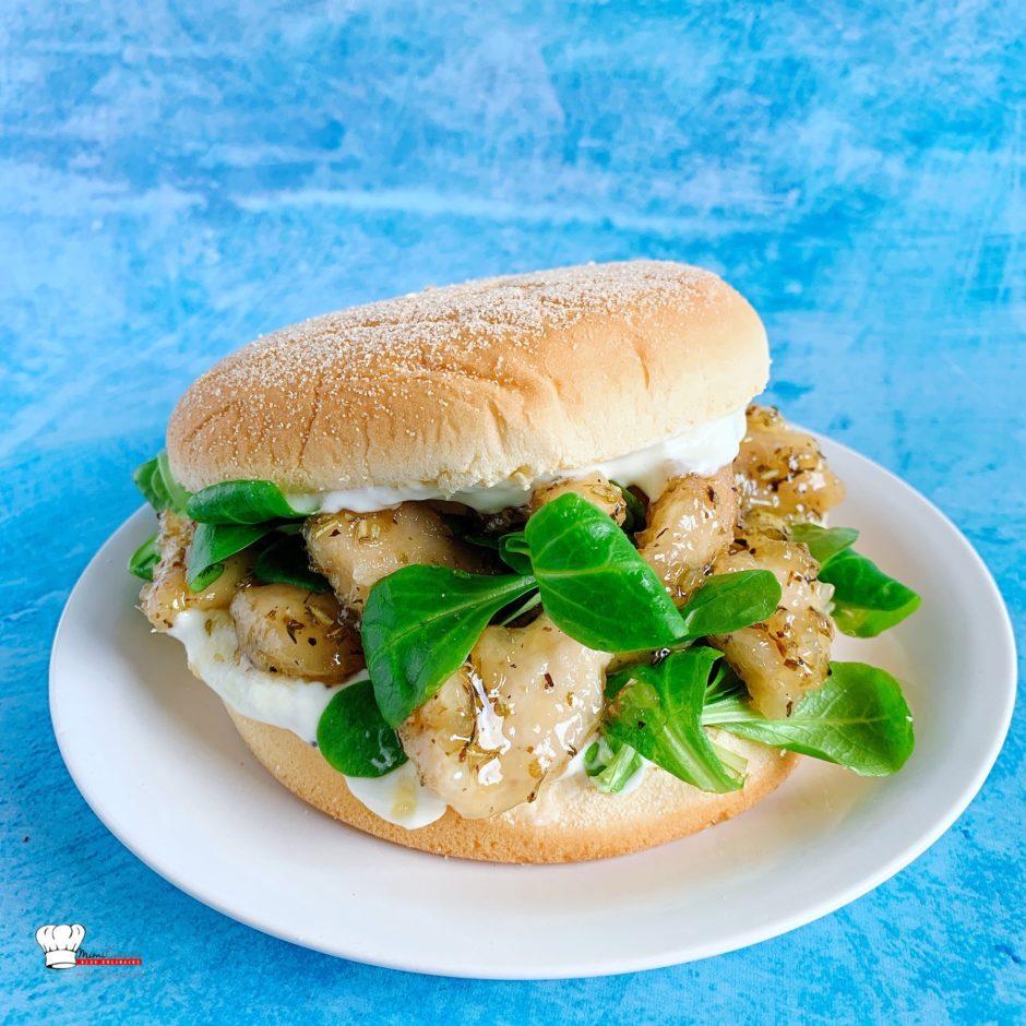 Recette Burger De Poulet Chevre Et Miel Mimi Cuisine Blog Cuisine