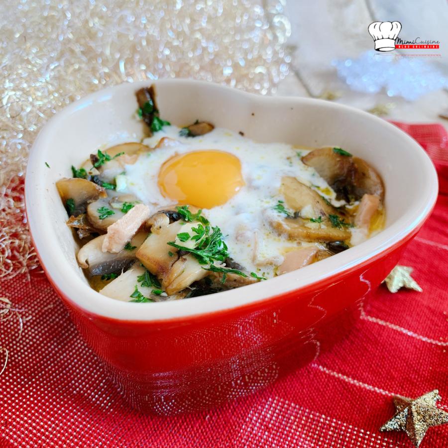 Oeufs cocottes foie gras et champignons au Cookeo