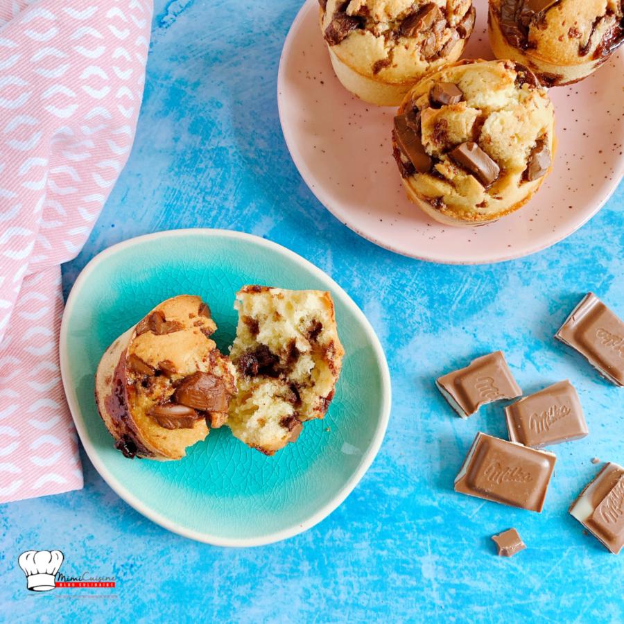 Muffins Noix de coco et Chocolat au lait