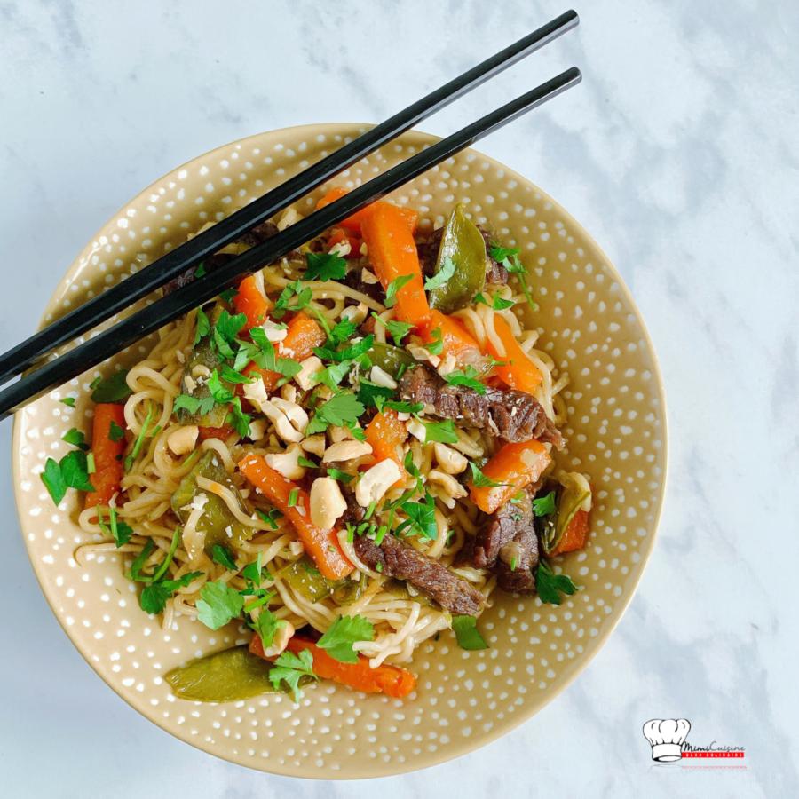 Nouilles chinoises au boeuf Recette Cookeo
