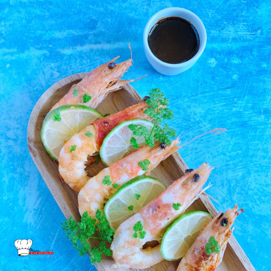Crevettes sautées Sauce Balsamique