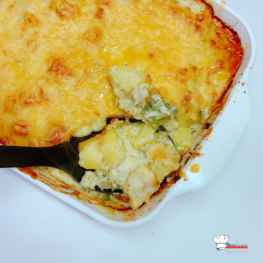 Gratin de cabillaud et légumes Recette Cookeo