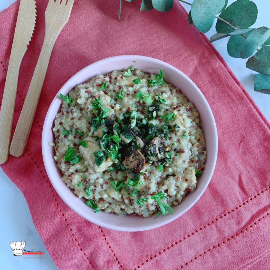 Quinoa Poulet Champignons Recette Companion